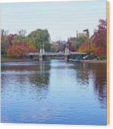 Boston Public Garden Lake Wood Print