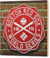 Boston Red Sox 1915 World Champions Wood Print by Stephen Stookey
