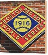 Boston Red Sox 1916 World Champions Wood Print