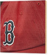 Boston Red Sox Baseball Cap Wood Print