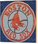 Boston Red Sox Wood Print by Dan Sproul