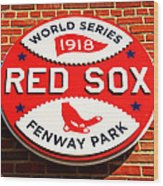 Boston Red Sox World Series Champions 1918 Wood Print by Stephen Stookey