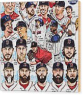 Boston Red Sox Ws Champions Wood Print
