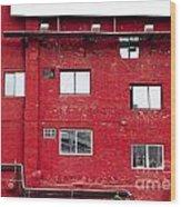 Boston Red Wall Wood Print