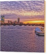 Boston Sky Wood Print by Joann Vitali