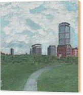 Boston Skyline 1968 Wood Print