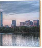 Boston Skyline IIi Wood Print