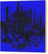 Boston Skyline Paint Splash 2 Wood Print