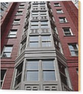 Boston Skyscraper Wood Print