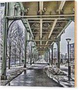 Boston Streetcar Overpass-cambridge V2 Wood Print