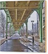 Boston Streetcar Overpass Wood Print