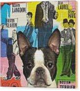 Boston Terrier Art - 30 Years Of Fun Movie Poster Wood Print