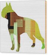 Boston Terrier Wood Print by Naxart Studio