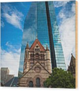 Boston Trinity Church Wood Print