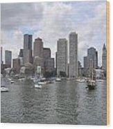 Boston Waterfront Wood Print