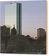 Bostons John Hancock Tower Massachusetts Wood Print