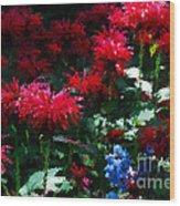 Botanic Garden Abstract Wood Print