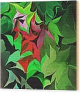 Botanical Fantasy 071613 Wood Print