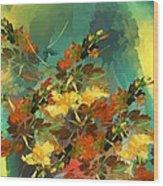 Botanical Fantasy 090914 Wood Print