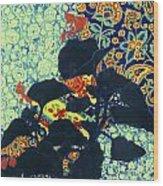 Botanical Klimt Wood Print