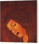Boticelli Madonna Vignette Wood Print