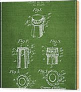 Bottle Cap Fastener Patent Drawing From 1907 - Green Wood Print