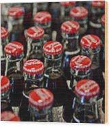 Bottle Caps Wood Print