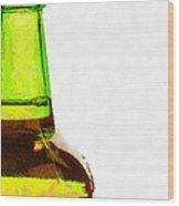 Bottle Neck Against White Painting Wood Print