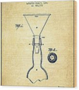 Bottle Neck Patent From 1891 - Vintage Wood Print