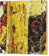 Bottle Of Wine  Wood Print by Mark Moore