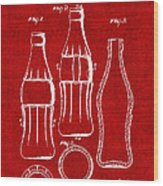 Bottle Support Patent Drawing From 1937 3 Wood Print