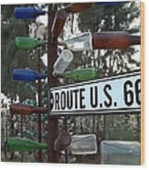 Bottle Trees Route 66 Wood Print