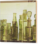 Bottled Light Wood Print