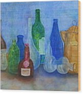 Bottles Collection Wood Print