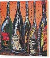 Bottle's Enjoyed Wood Print
