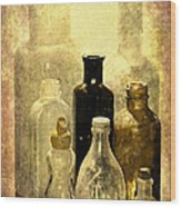 Bottles From The Past Wood Print