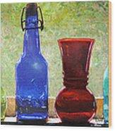 Da142 Bottles Of Time Daniel Adams Wood Print