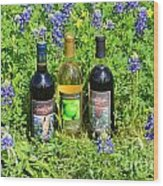 Bottles Of Wine Wood Print