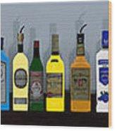 Bottles... Wood Print