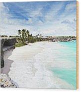Bottom Bay, Barbados Wood Print