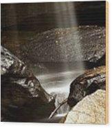 Bottom Of Eagle Falls Wood Print