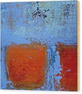 Bottom Orange Wood Print