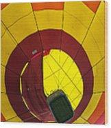 Bottoms Up Hot Air Balloon Wood Print