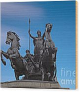 Boudicca Wood Print by Pete Reynolds