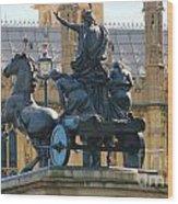 Boudicca Statue And Parliament 5805 Wood Print