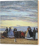 Boudin's The Beach At Villerville Wood Print