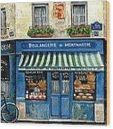 Boulangerie De Montmartre Wood Print