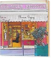 Boulangerie Patisserie In Paris Wood Print