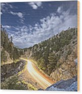 Boulder Canyon Dream Wood Print