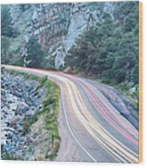 Boulder Canyon Drive And Commute Wood Print